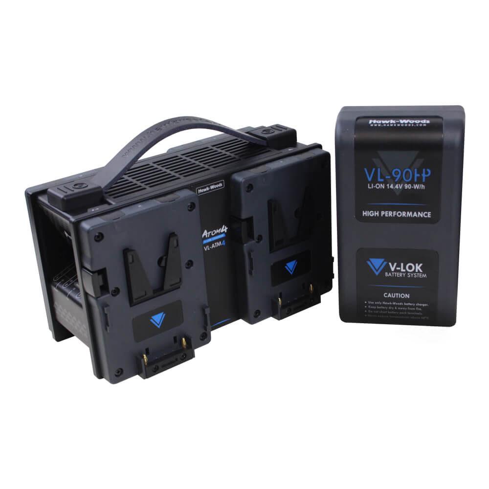 The Movie Lot Batteries Hawk-Woods V-Lock 26V1 80W Quad-charger